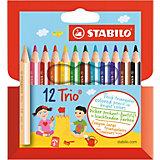 Набор цветных карандашей, 12 цв., Trio