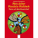Mein dicker Mandala-Malblock - Tiere auf dem Bauernhof