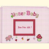 Unser Baby, Stoff-Fotoalbum rosa