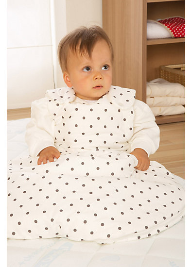Schlafsack Baby Mäxchen, Jersey, Dots