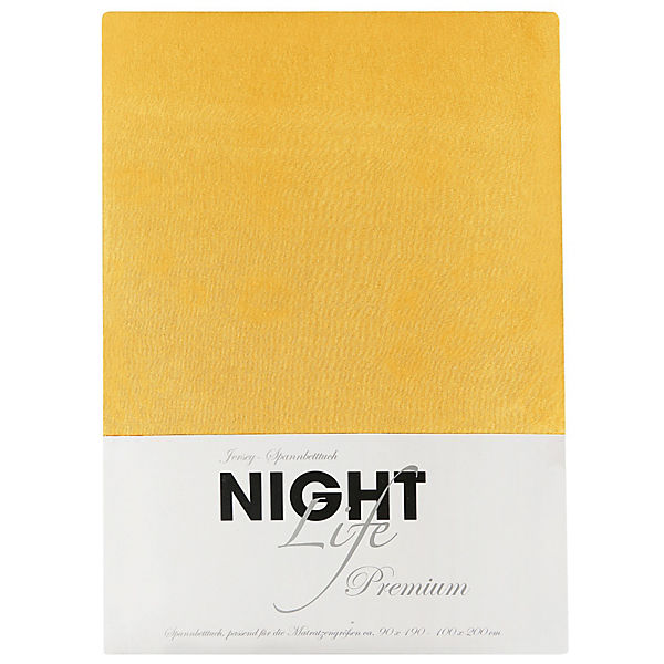 spannbettlaken jersey gelb 100 x 200 cm mytoys. Black Bedroom Furniture Sets. Home Design Ideas