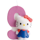 Geburtstagskerze 9 - Zahlenkerze Hello Kitty