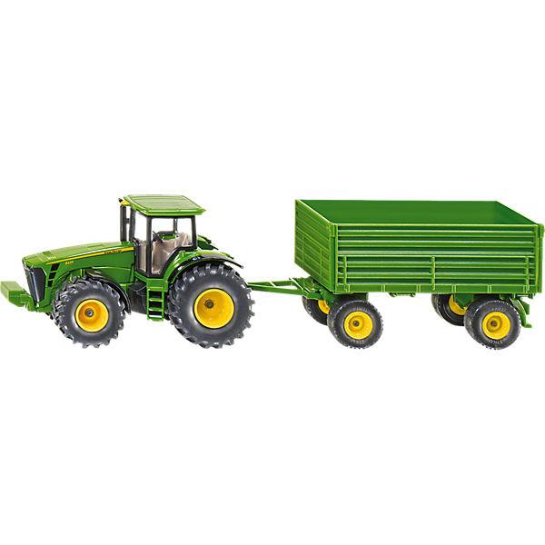 Siku traktor mit anhänger john deere mytoys