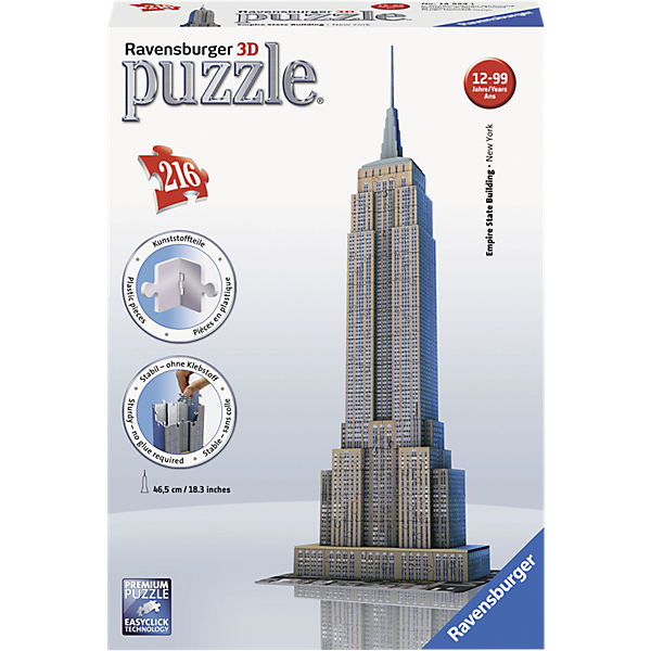 3D Gebäude Puzzle Empire State Building - 216 Teile