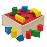 HEROS Holzbox-Steckspiel, 10-tlg.