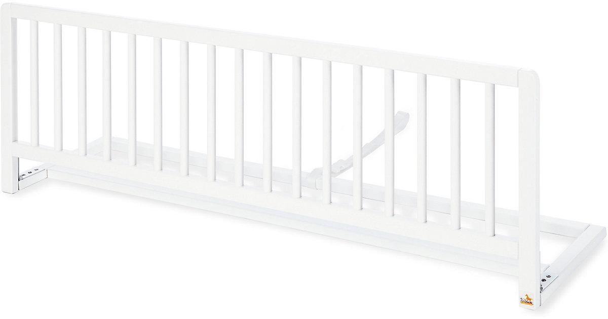 Bettschutzgitter, Buche massiv, weiß, Länge 120 cm
