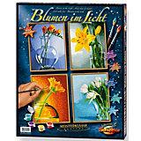 Malen nach Zahlen - Blumen im Licht (4 Bilder)