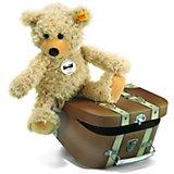 Steiff Charly Schlenkerteddy im Koffer, beige, 30 cm