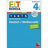 Fit für die Schule: Tests mit Lernzielkontrolle - Deutsch + Mathematik 4. Klasse