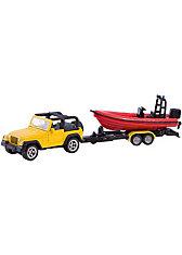 SIKU 1658 Jeep mit Boot