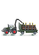 SIKU 1861 Traktor mit Holzanhänger 1:87