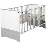 Kinderbett ECO SILBER, Pinie silber/weiß, 70 x 140 cm