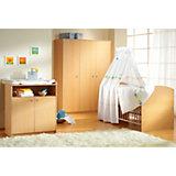 Komplett Kinderzimmer CLASSIC LINE BUCHE, 3-tlg. (Kinderbett, Wickelkommode und 3-türiger Kleiderschrank), Buche