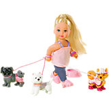 Steffi Love Еви на прогулке с собаками
