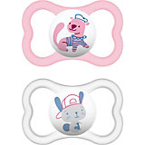 Pacifier Air, Latex, Size 2, Girls