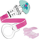 Pacifier Clip with tip Clip & Cover, Girls