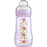 Weithals Flasche Baby Bottle, PP, 270 ml, Silikonsauger, Gr. 2, lila