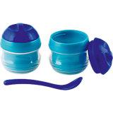 Thermo- Schälchen mit Löffel, blau