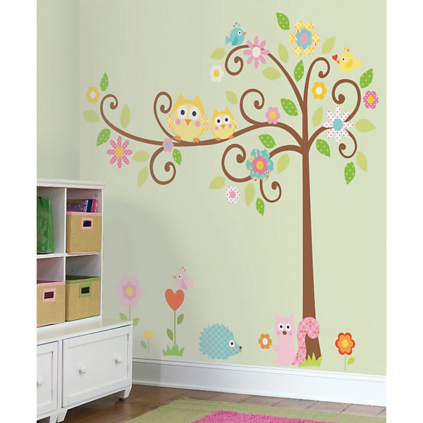 "Наклейки для декора ""Дерево с завитками"""