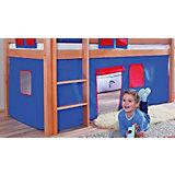 Vorhangset für Spielbett ELIYAS und ALEX (ohne Rutsche), blau/rot