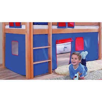 vorhangset f r spielbett eliyas und alex ohne rutsche blau rot relita mytoys. Black Bedroom Furniture Sets. Home Design Ideas