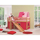 Vorhangset für Spielbett ELIYAS und ALEX (ohne Rutsche), pink/rosa