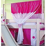 Zeltstoffset für Spielbett LEO, pink/weiß