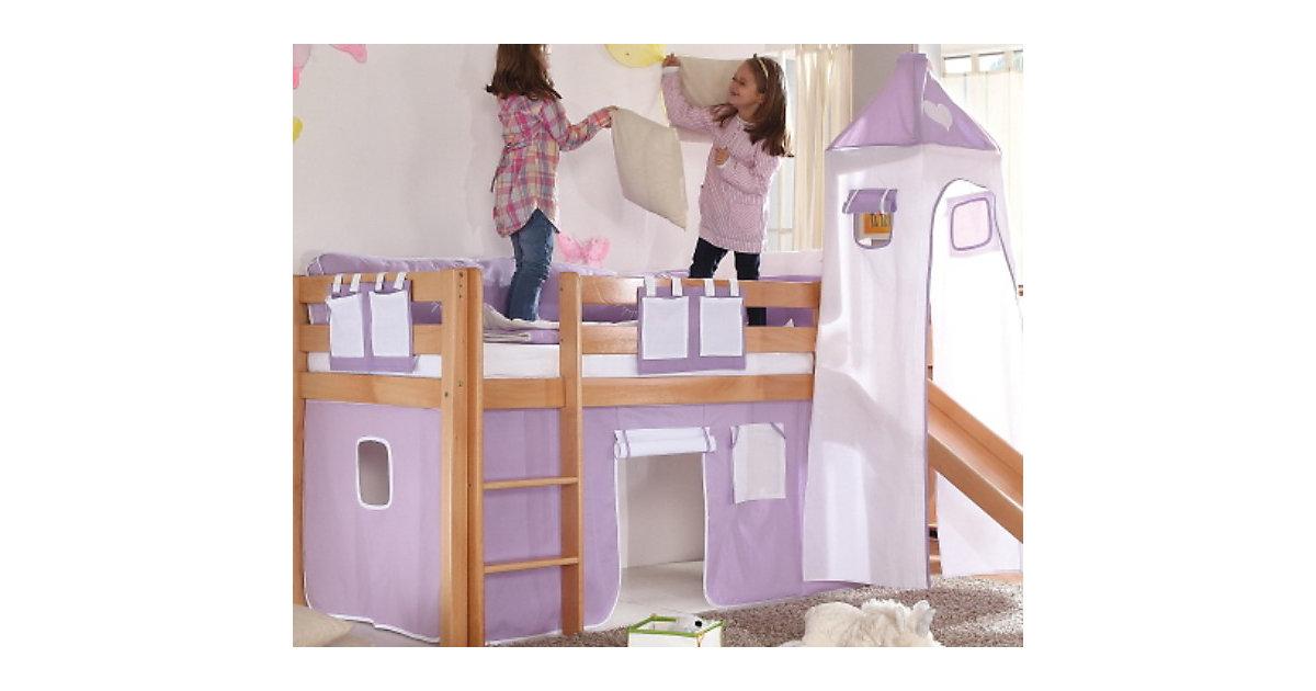 relita vorhangset f r spielbett kim alex mit turm lila wei herz preisvergleich g nstig kaufen. Black Bedroom Furniture Sets. Home Design Ideas