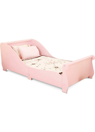 Kinderbett Pferdeschlitten ,70 x 140 cm, rosa