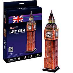 """Пазл 3D """"Биг бен 2 (Лондон)"""", 30 деталей, CubicFun"""