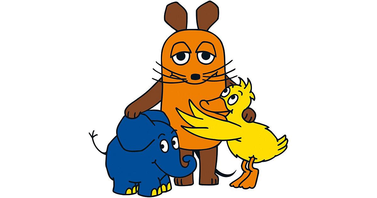 Wandsticker Sendung mit der Maus, Maus / Elefant und Ente mehrfarbig