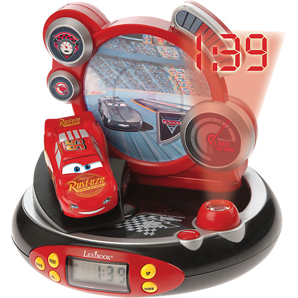 cars radiowecker mit projektion und nachtlicht disney cars mytoys. Black Bedroom Furniture Sets. Home Design Ideas