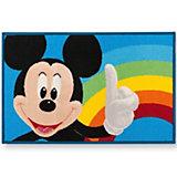 Kinderteppich Mickey Mouse, Regenbogen, 50 x 80 cm