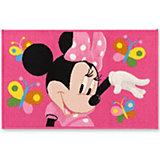 Kinderteppich Minnie Mouse, Schmetterlinge, 50 x 80 cm