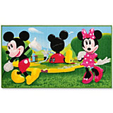 Kinderteppich Mickey und Minnie Mouse, Clubhaus, 80 x 140 cm