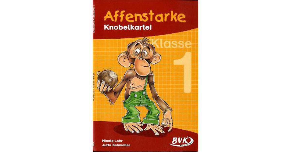 Buch - Affenstarke Knobelkartei: Klasse 1
