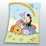 Kuscheldecke Winnie the Pooh Regenbogen, 130 x 160 cm