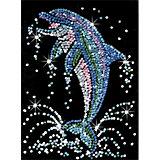 KSG Sequin Art Black Delfin
