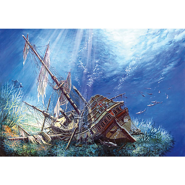 """Пазл """"Затонувший корабль"""", 2000 деталей, Castorland"""