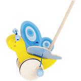 Каталка на палке Бабочка синяя GOKI
