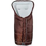 Fußsack Fleece mit Reflektorstreifen und ABS, braun