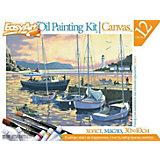 "EasyArt Набор для живописи масляными красками № 5 ""Вечерняя гавань"""