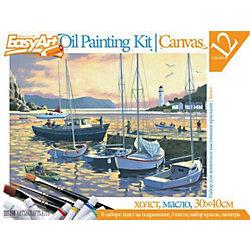 "EasyArt Набор для живописи масляными красками № 5 ""Вечерняя гавань"