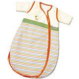Schlafsack, Bubou, beige/orange/grün