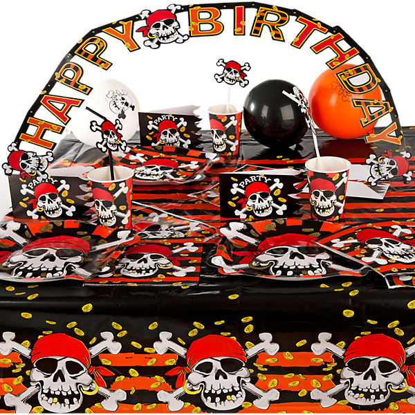 Partyset Jolly Roger 62-tlg
