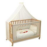 Beistell- und Kinderbett komplett, 60 x 120 cm, Room Bed Schnuffel, natur