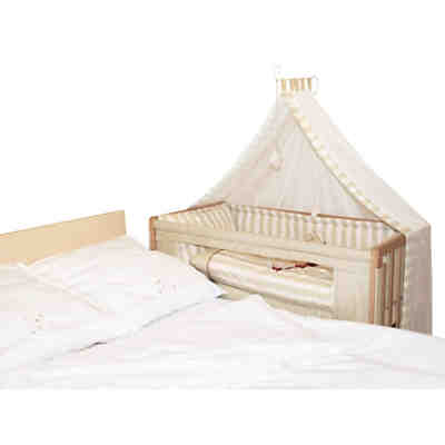 beistellbett babybay midi wei lackiert tobi mytoys. Black Bedroom Furniture Sets. Home Design Ideas