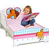 Kinderbett Pferde, 70 x 140 cm