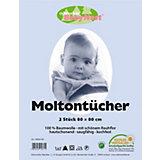 Moltontuch, 2er Pack weiss