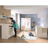 Komplett Kinderzimmer MILLA, 4-tlg. (Kinderbett, Kommode, Wickelaufsatz und 2-türiger Kleiderschrank), Weiß/Macchiato Hochglanz